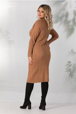 Rochie Paula maro lunga din tricot
