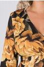 Rochie Sebra cu imprimeuri florale si geometrice