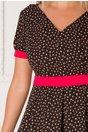 Rochie Yarina neagra cu imprimeu floral