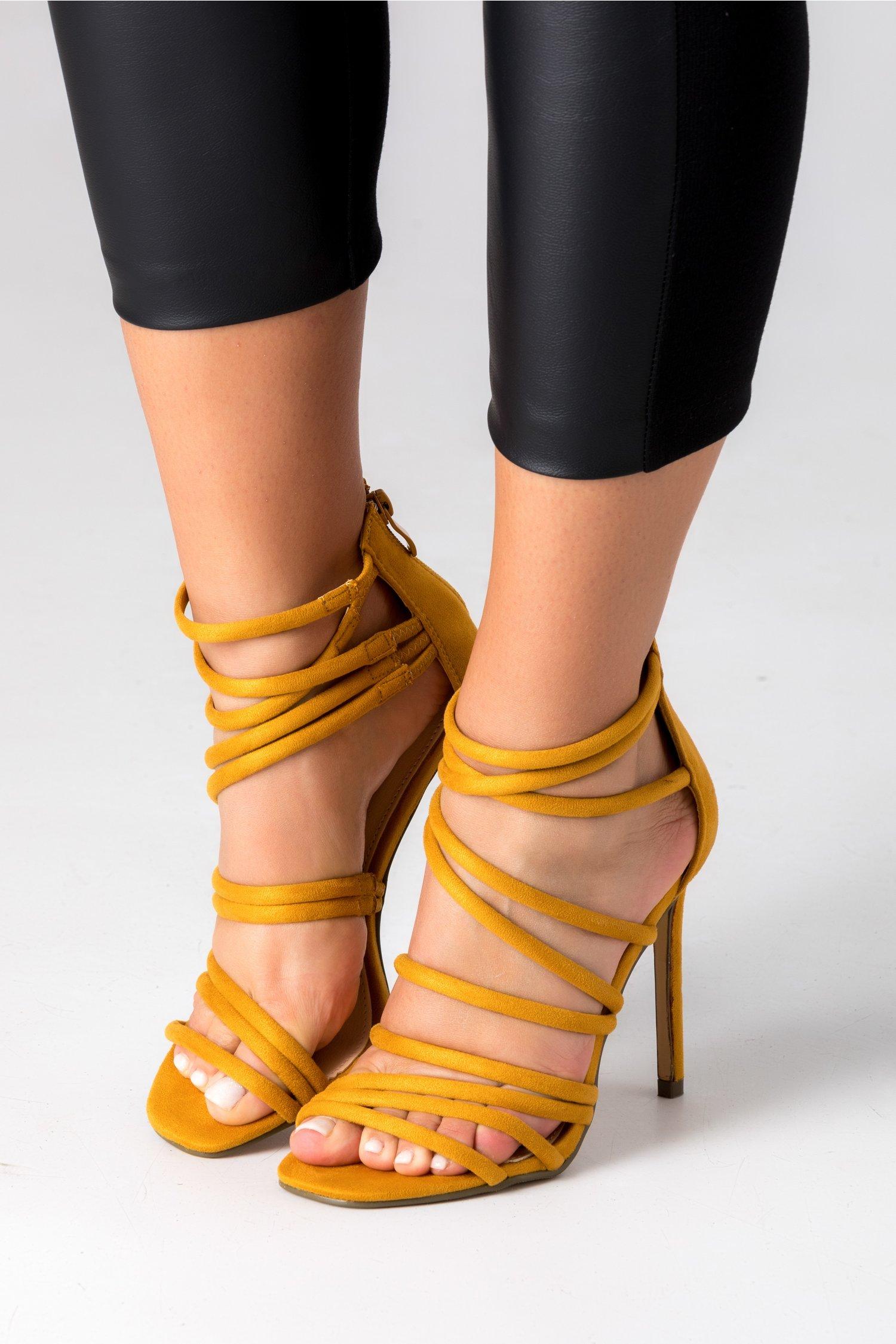 Sandale Anny galben mustar elegante