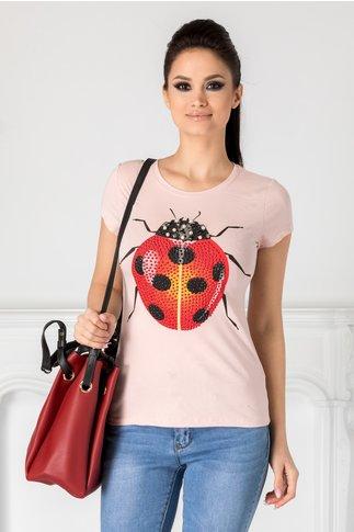 Tricou Ladybug roz