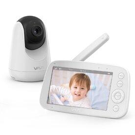 Baby Monitor Video VAVA VA-IH006, Display 5 inch, 720P, Night Vision, Alarma, Temperatura, Wide Angle, Zoom, Pan & Tilt, Alb