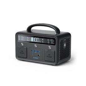 Baterie externa Anker Portable Power Station, PowerHouse II 400, 108k mAh, 300 W/388.8 Wh, 220V AC, 60W USB-C Power Delivery, cu incarcare solara, lumina LED, 8 porturi