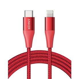 Cablu USB-C Lightning MFI Anker PowerLine+ II 1.8m Rosu