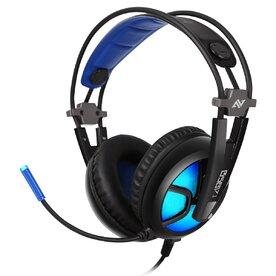 Casti gaming Abkoncore B581 Virtual 7.1, Noise Cancelling, microfon, vibratii, RGB, USB, Negru