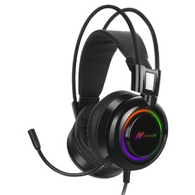 Casti gaming Abkoncore B780 Virtual 7.1, Noise Cancelling, microfon, vibratii, RGB, USB, Negru