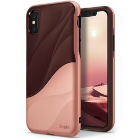 Husa Ringke iPhone X/Xs Wave Rose Blush