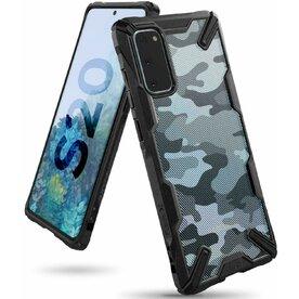 Husa Samsung Galaxy S20 Ringke FUSION X Design Negru Camuflaj