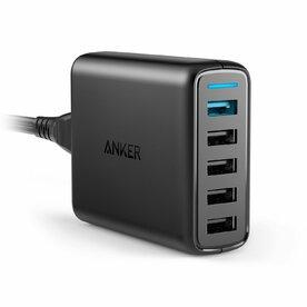 Incarcator de retea Anker PowerPort+ 5 Qualcomm Quick Charge 3.0 51.5W 5 porturi USB PowerIQ Negru
