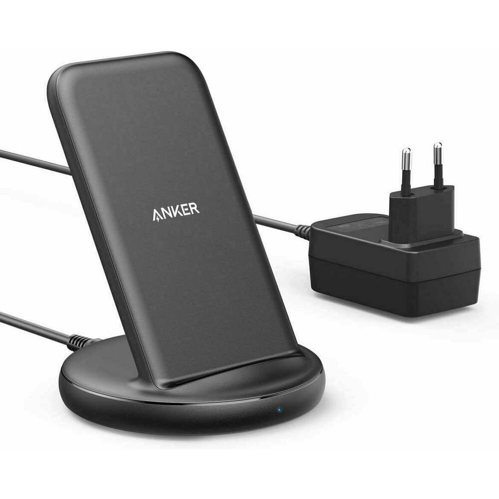 Imagine Incarcator Universal Wireless Qi Anker Powerwave Ii Stand 15w Negru