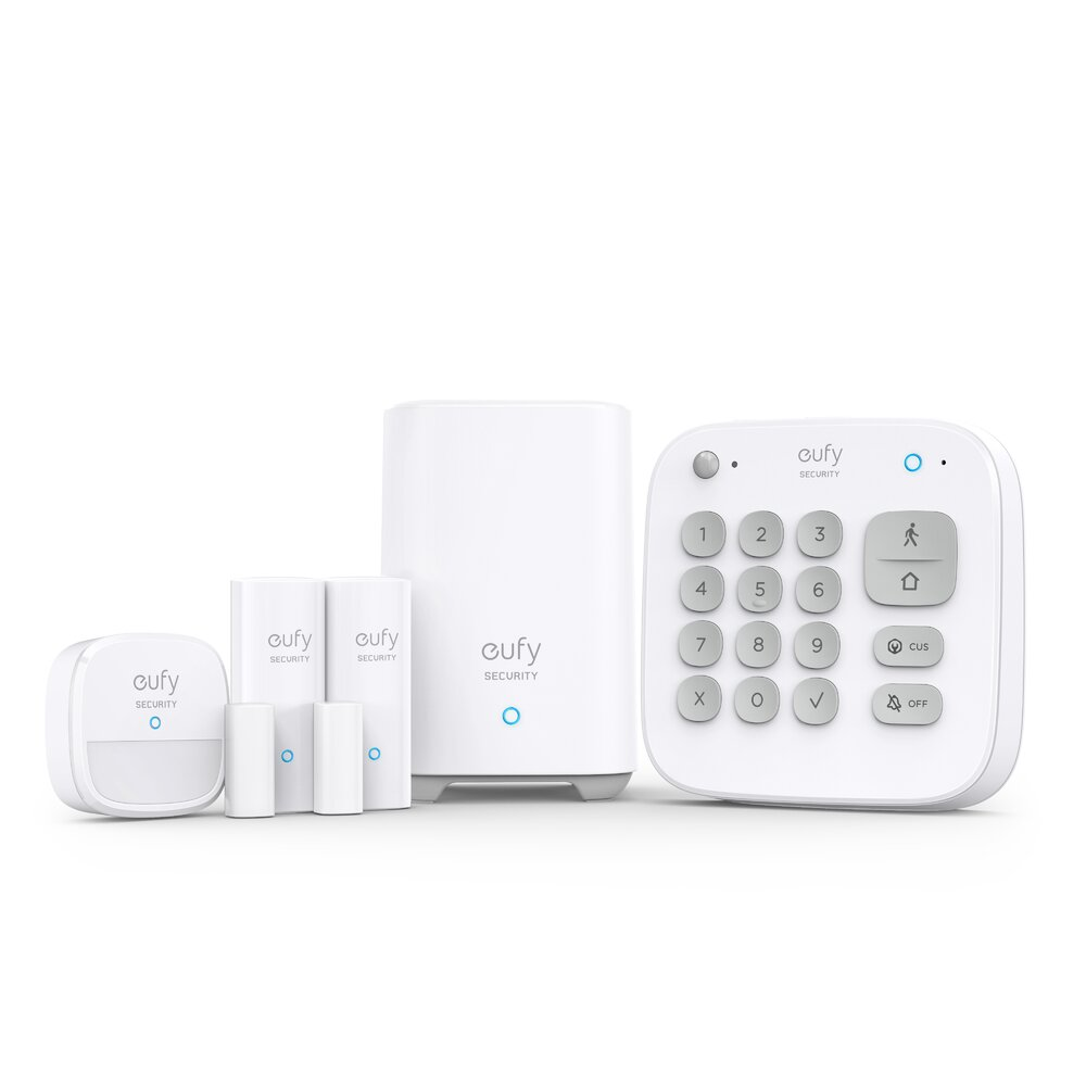 Imagine Kit Complet Alarma Smart Eufy Security Senzor Miscare 2x Senzori