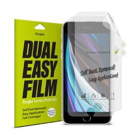Set 1+1 folie protectie iPhone SE 2 / iPhone 7 / iPhone 8/ iPhone 6 Ringke Dual Easy Film
