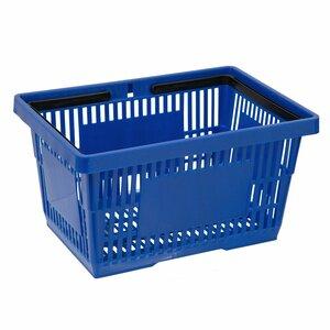 Cos de cumparaturi cu maner 22 litri, Albastru
