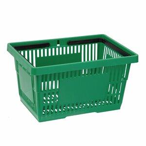 Cos de cumparaturi cu maner 22 litri, Verde