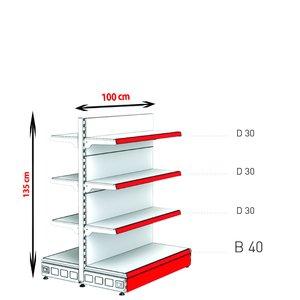RAFTURI METAL RM-13 Înălțime-135, Lățime-100cm, Bază:40