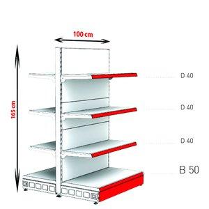 RAFTURI METAL RM-13 Înălțime-165, Lățime-100cm