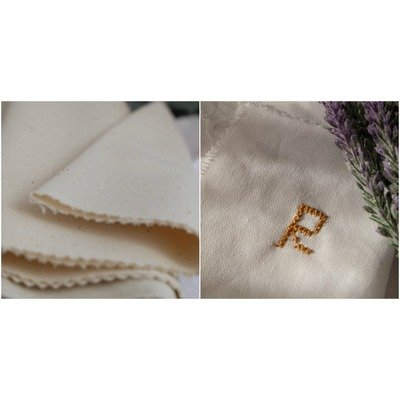 Traditional plain weaved fabric - Natural