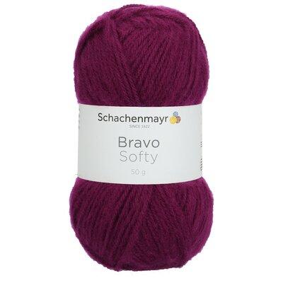 Acrylic yarn Bravo Softy - Blackberry 08045