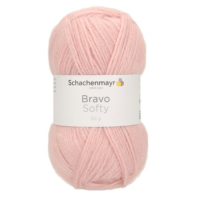 Acrylic yarn Bravo Softy - Old Rose 08379