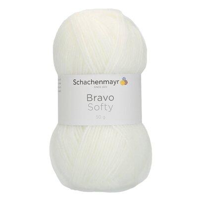 Acrylic yarn Bravo Softy - White 08224