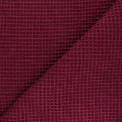 Copy name: Waffle Pique Cotton Fabric Bordeaux