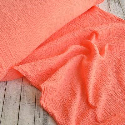 Cotton gauze fabric- Anuca Salmon