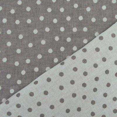 Cotton Jaquard Double face - Dots Dark Grey