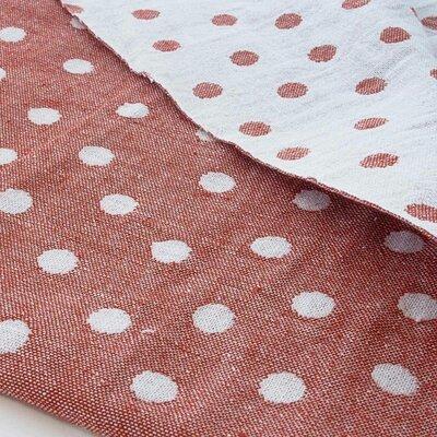 Cotton Jaquard Double face - Dots terra