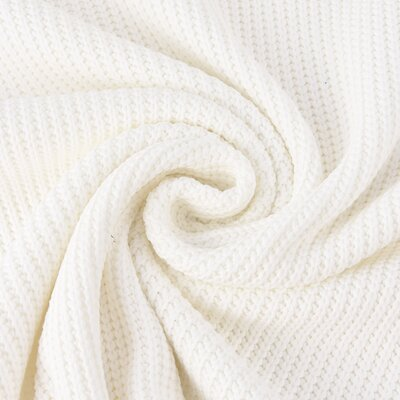 Cotton Knitted Cable - Ivory