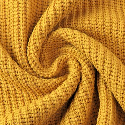 Cotton Knitted Cable - Ocre