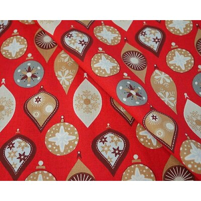Cotton print - Globes Red