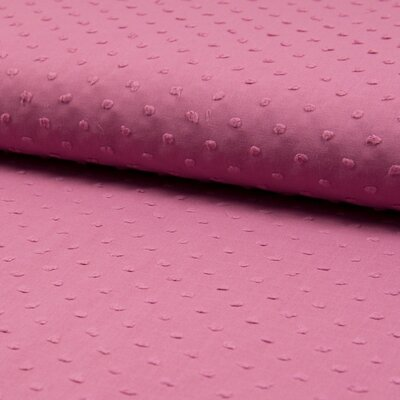 Cotton voile fabric - Dobby Old Rose