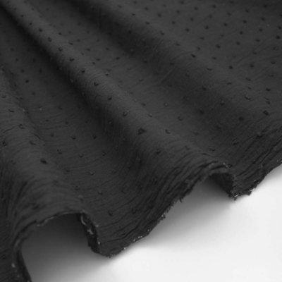 Cotton voile fabric - Plumetis Black