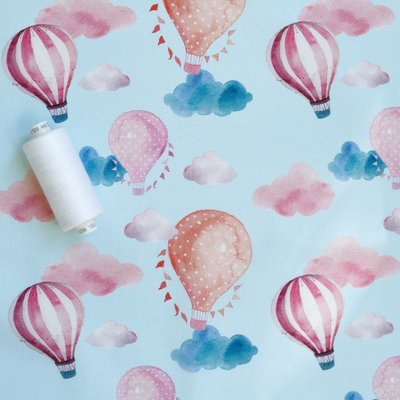 Designer Print Fabric - Hot Air Balloons