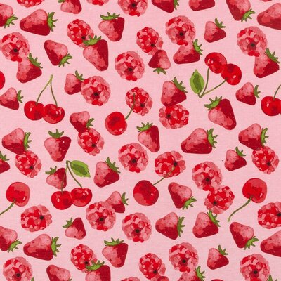 Home Decor Fabric - Red Fruit Party