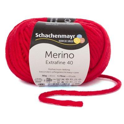 Merino Wool Yarn Extrafine 40 - Cherry 00331