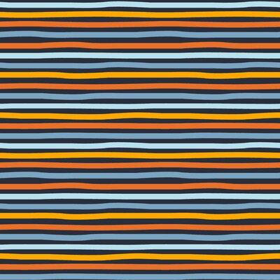 Organic Jersey - Stripes Navy