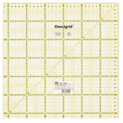 Patchwork and quilting ruler Omnigrid- 31.5 x 31.5 cm