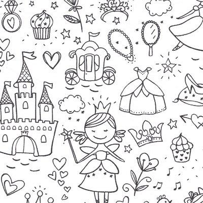 Printed Cotton - Color me Fairy