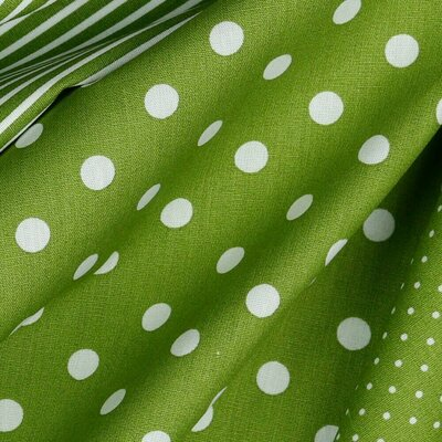 Printed Cotton - Dots Green