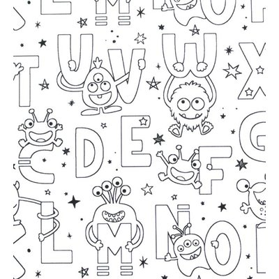 Printed Cotton - Funny Letters