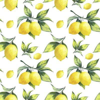 Printed cotton - Lemons