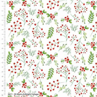 Printed Cotton - Merry & Bright Foliage