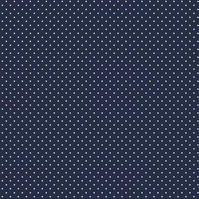 Printed Cotton - Petit Dot Navy