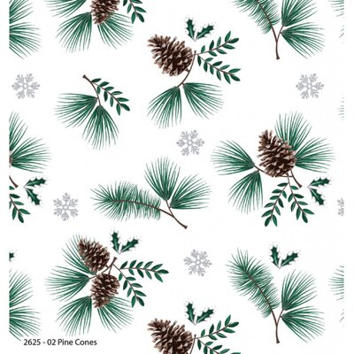 Printed Cotton - Woodland Pine Cone