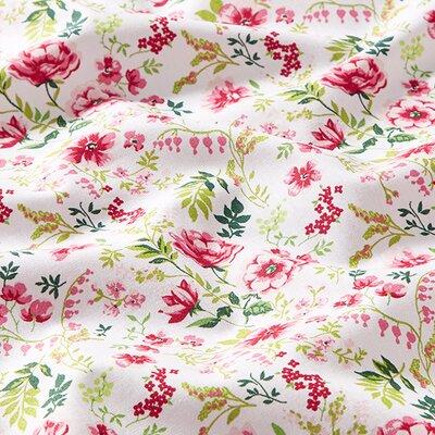 Printed Poplin - Sweet Flower White