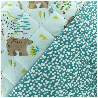 Quilted Cotton - Bears Blue