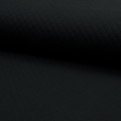 Quilted Jersey Cotton Diamond - Black