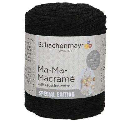 Slim macramé yarn - Ma-Ma-Macrame Black 00099