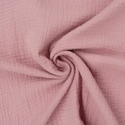 GOTS Organic Solid muslin double gauze - Old Rose